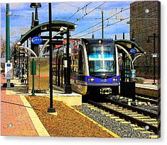 Acrylic Print featuring the photograph Blue Line by Rodney Lee Williams