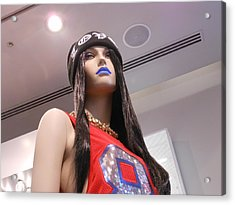 Blue Lips Acrylic Print by Kay Gilley