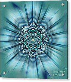 Blue Lotus Mandala Acrylic Print