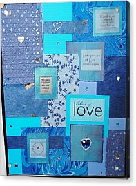 Blue Love Acrylic Print