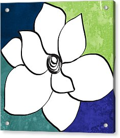 Blue Magnolia 2- Floral Art Acrylic Print