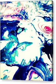 Blue Marble Acrylic Print by Mlle Marquee