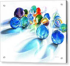 Blue Marble Reflections Acrylic Print