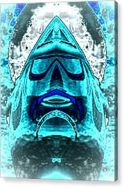 Blue Mask Acrylic Print