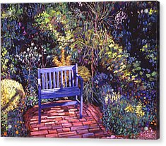 Blue Meeting Chair Acrylic Print by David Lloyd Glover