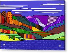 Blue Mesa Lake Acrylic Print by Randall Henrie