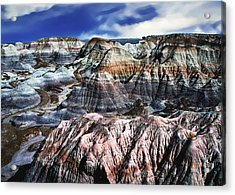 Blue Mesa - Painted Desert Acrylic Print by Bob and Nadine Johnston