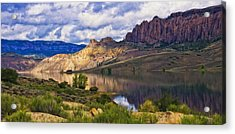 Blue Mesa Reservoir Digital Painting Acrylic Print