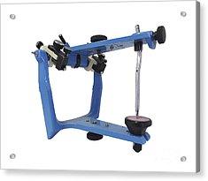 Blue Metallic Articulator Used Acrylic Print by Elena Duvernay