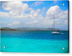 Blue Acrylic Print by Michael Glenn