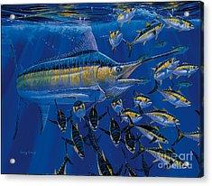 Blue Millennium Acrylic Print by Carey Chen