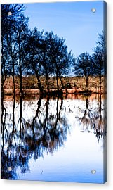Blue Mirror Acrylic Print