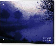 Acrylic Print featuring the photograph Blue Misty Reflection by Julie Lueders