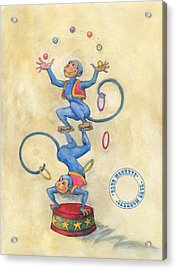 Blue Monkeys Acrylic Print by Lora Serra