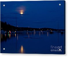 Blue Moon Acrylic Print by Chuck Flewelling