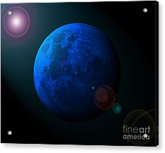 Blue Moon Digital Art Acrylic Print