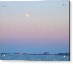 Blue Moon Eve Acrylic Print