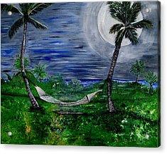 Blue Moon Hammock Acrylic Print