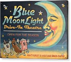 Blue Moon Light Acrylic Print by Sherry Dooley