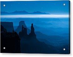 Blue Moon Mesa Acrylic Print