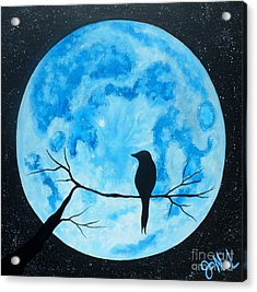 Blue Moon Nights Acrylic Print by JoNeL Art
