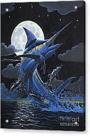 Blue Moon Off0069 Acrylic Print by Carey Chen