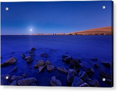 Blue Moon On The Rocks Acrylic Print