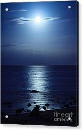 Blue Moon Rising Acrylic Print by Peta Thames