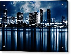 Acrylic Print featuring the photograph Blue Moon by Ryan Weddle