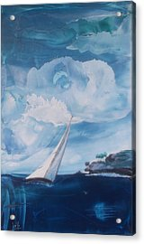 Blue Moon Sail Acrylic Print by Danita Cole