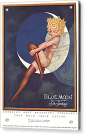 Blue Moon Silk Stockings 1920s Usa Acrylic Print by The Advertising Archives