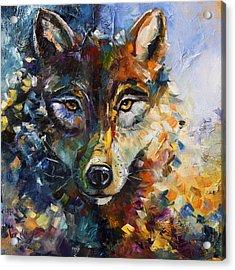 Blue Moon Wolf Acrylic Print