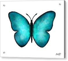 Acrylic Print featuring the painting Blue Morpho Butterfly by Laura Bell