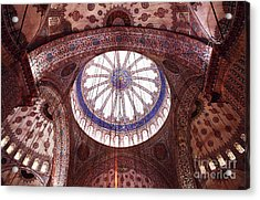 Blue Mosque Interior Acrylic Print by John Rizzuto