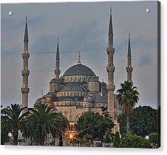 Blue Mosque Morning Light Acrylic Print