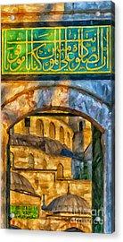 Blue Mosque Painting Acrylic Print by Antony McAulay