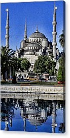Blue Mosque Acrylic Print by Stephen Stookey