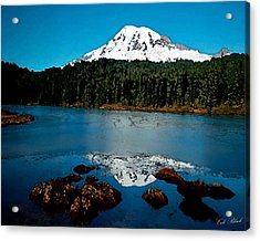Blue Mountain Acrylic Print by Cole Black