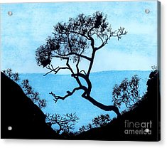 Acrylic Print featuring the drawing Blue Mountain by D Hackett