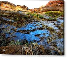 Blue Mountain Acrylic Print by Kruti Shah