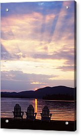 Blue Mountain Lake Ny Acrylic Print