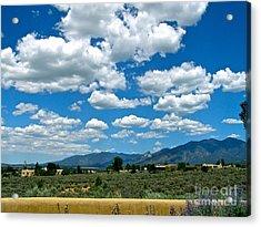 Blue Mountain Skies Acrylic Print