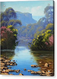 Blue Mountains River Acrylic Print by Graham Gercken