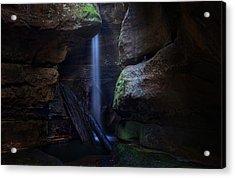 Blue Mountains Waterfall Acrylic Print by Yan Zhang