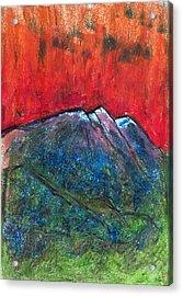 Blue Mountains Acrylic Print by Yuri Lushnichenko