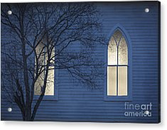 Blue Mulberry Acrylic Print