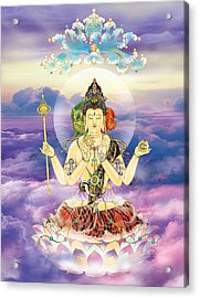 Acrylic Print featuring the photograph Blue-neck Kuan Yin by Lanjee Chee