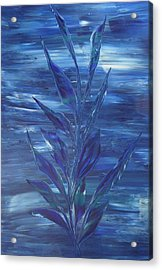 Acrylic Print featuring the painting Blue by Nico Bielow