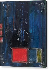 Acrylic Print featuring the painting Blue by Nicole Nadeau
