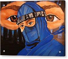 Blue Ninja Acrylic Print by Lorinda Fore